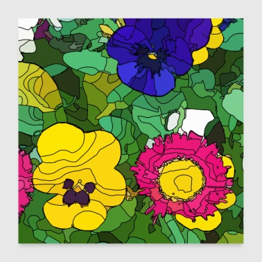 Flowers 1 - Poster 24 x 24 (60x60 cm)