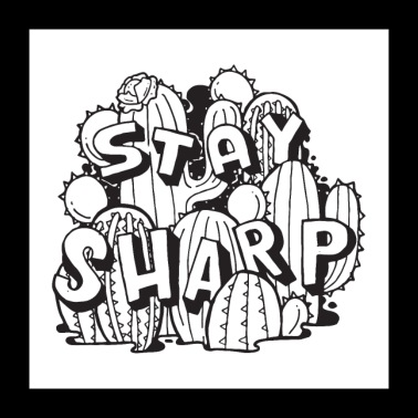 Stay Sharp - Cactus - Poster 24 x 24 (60x60 cm)