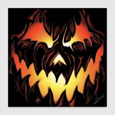 halloween poster - Poster 24 x 24 (60x60 cm)