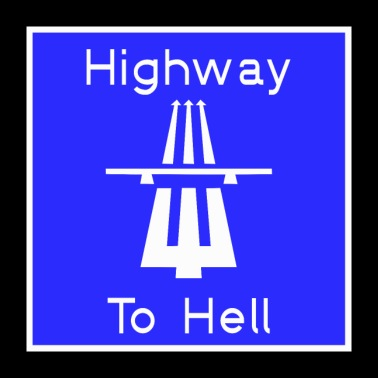 Highway to hell - Poster 24 x 24 (60x60 cm)