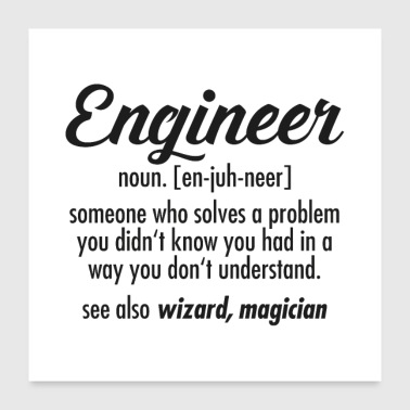 Engineer Definition - Poster 60x60 cm