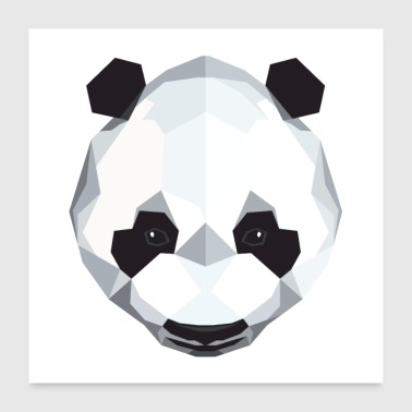 Panda polygon design - Poster 60x60 cm