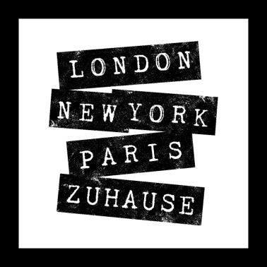 LONDON, NEW YORK, PARIS, ZUHAUSE VINTAGE - Poster 60x60 cm
