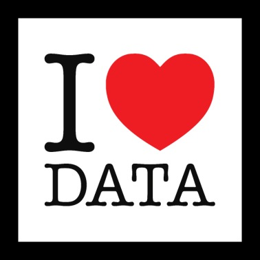 I Heart Data - Poster 24 x 24 (60x60 cm)