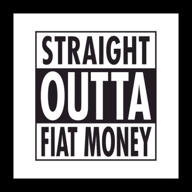 Straight Outta FiatMoney - Poster 24 x 24 (60x60 cm)