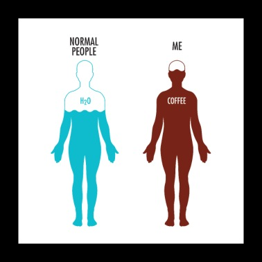 Normal People Vs. Me - Coffee Love Design - Poster 24 x 24 (60x60 cm)