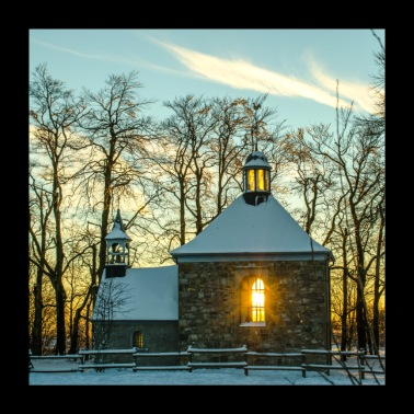 Chapel in winter Poster - Poster 24 x 24 (60x60 cm)