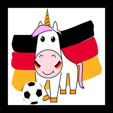 Unicorn Violetta plays football for Germany - Poster 24 x 24 (60x60 cm)