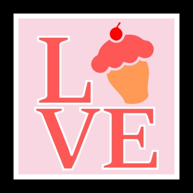Muffin Liebe Cupcake Love - Poster 60x60 cm