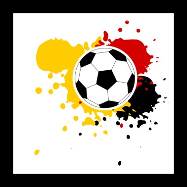 Football Germany splashes of paint - Poster 24 x 24 (60x60 cm)