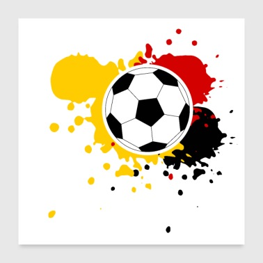 Football Germany spruzza di vernice - Poster 60x60 cm
