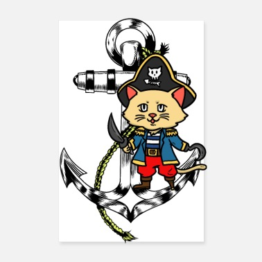 Buccaneers Pirate sailor anchor fantasy kids ahoy piracy - Poster