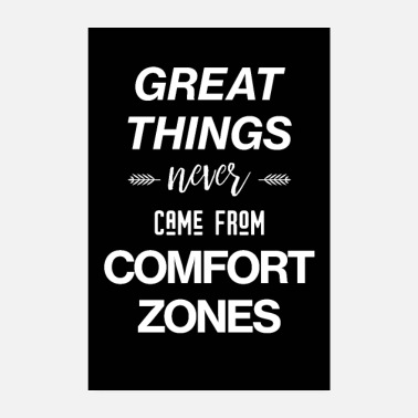 Workout Comfort Zones - Motivational Poster - Poster 8 x 12