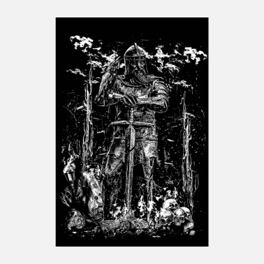 Viking VIKING KING - Poster 20x30 cm