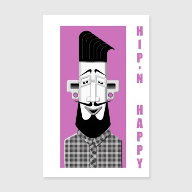 Hipster No3 - Poster 20x30 cm