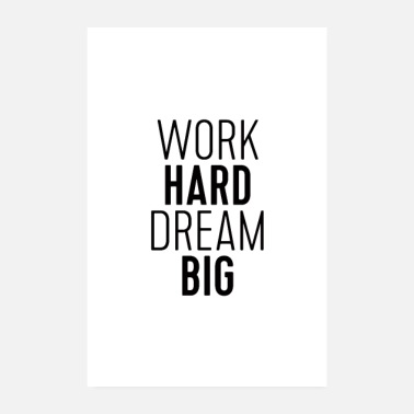 Fitness Work Hard Dream Big - Poster