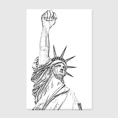 Statue of Liberty, fist held high - Poster 8 x 12