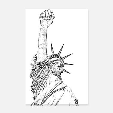 Statue Of Liberty Statue of Liberty, fist held high - Poster 8 x 12