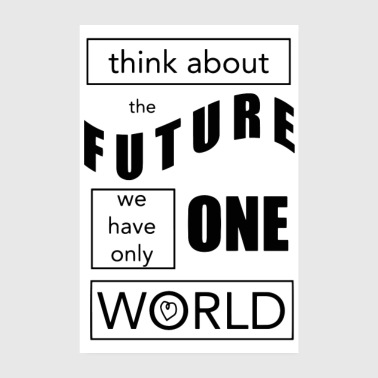 Say Think about the Future - Poster 8 x 12