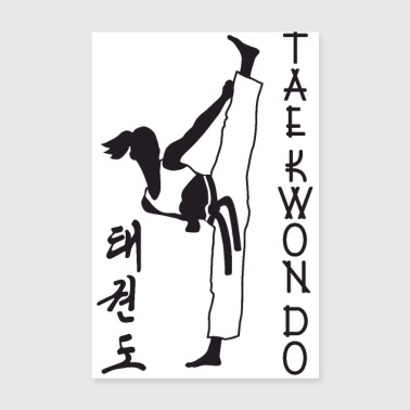 taekwondo girl left 2 3 UK 01 - Poster 8 x 12
