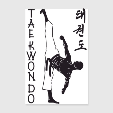 taekwondo man right 2 3 UK 01 - Poster 20x30 cm