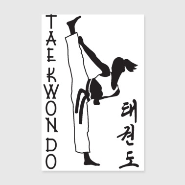 taekwondo girl right 2 3 UK 01 - Poster 8 x 12
