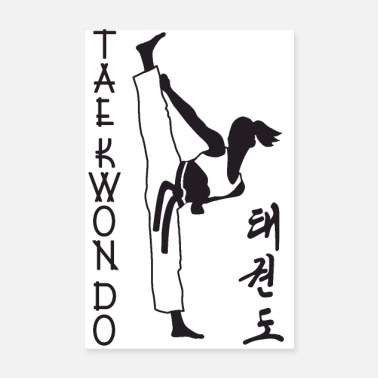 Uk taekwondo girl right 2 3 UK 01 - Poster 8 x 12