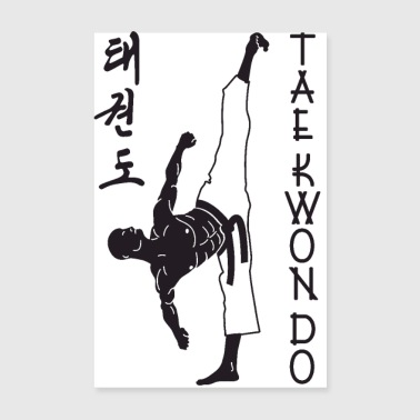 taekwondo man left 2 3 UK 01 - Poster 8 x 12