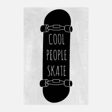 Sport Les gens cool patinent - Poster 20 x 30 cm