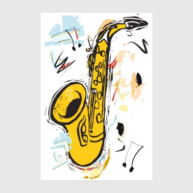 Sparkling Sax - Poster - Poster 8 x 12