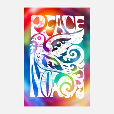Woodstock Peace Now 60er Jahre Friedenstaube Poster - Poster