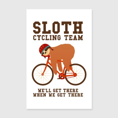 Sloth Cycling Team - Poster 8 x 12