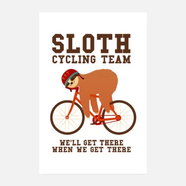 Luiaard Sloth Cycling Team - Poster 20x30 cm