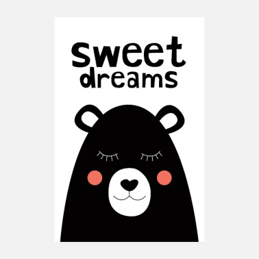 Collection For Kids Sweet Dreams - Teddybeer - Poster