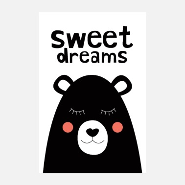 Syntymä Sweet Dreams - Nalle - Juliste 20x30 cm