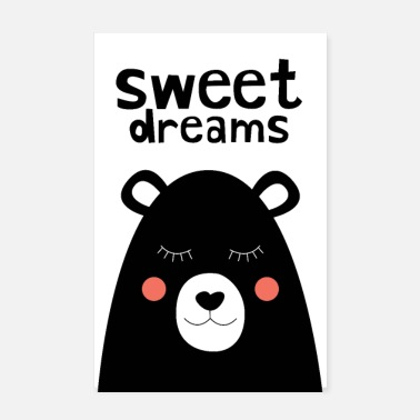 Syntymä Sweet Dreams - Nalle - Juliste