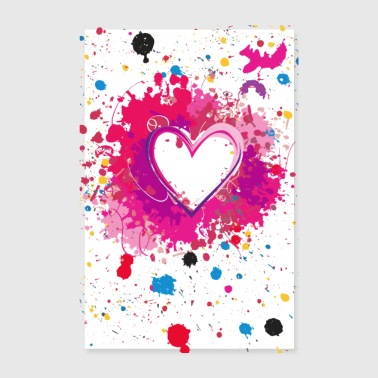 Splashed Heart - Poster - Poster 8 x 12