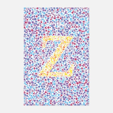 Alphabet Z eye test - Poster 8 x 12