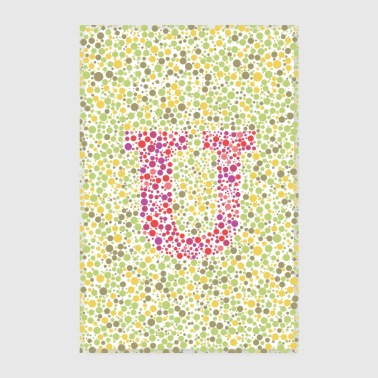 Initial U eye test poster - Poster 8 x 12