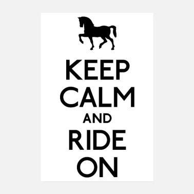 Springreiten Keep Calm and Ride on - Poster 20x30 cm
