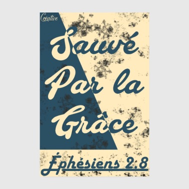 Bible Save by grace - Poster 8 x 12