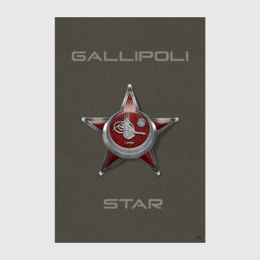 Harp Madalyası Iron Crescent Gallipoli Star - Poster 20x30 cm
