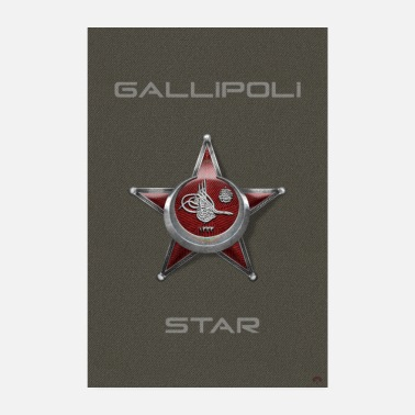 Palkinto Harppu Madalyası Iron Crescent Gallipoli Star - Juliste 20x30 cm