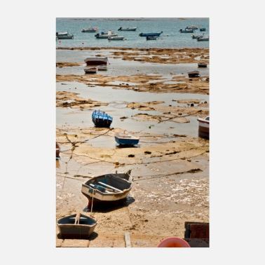 Fisherman Fisherman boats on the beach of Cadice Andalucia - Poster