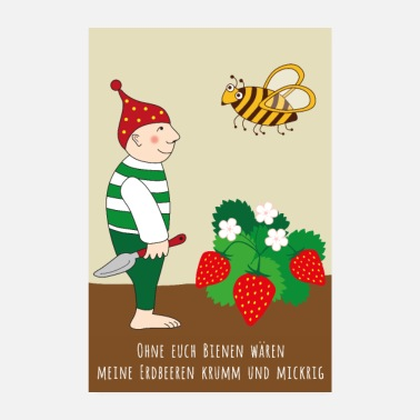 Pollinate Strawberry POSTER - Poster