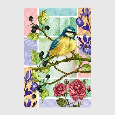 Titmouse in the garden - Poster 8 x 12