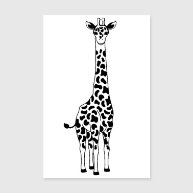 Illustration de la girafe - Poster 20 x 30 cm