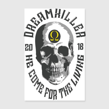 Dromenkiller schedel records - Poster 20x30 cm