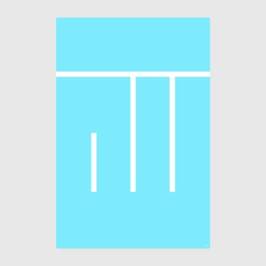 Allah - Dieu - police turquoise minimaliste - Poster 20 x 30 cm