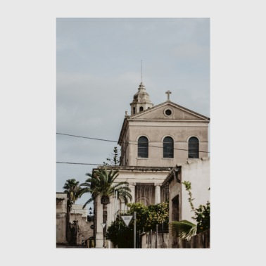 Mallorca church village - Poster 8 x 12